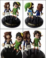Cosplay Wedding Cake Topper by LeiliaClay