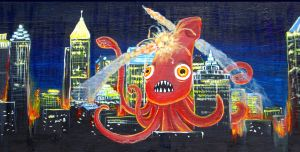 Giant Squid Attack by Hydraulic-Wing