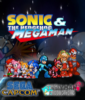 Sonic And Megaman Poster by tfpivman