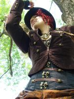 Steampunk Outdoor Outfit by sophien