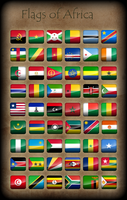 Flags of Africa - Icons by Kristo1594
