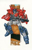 commission optimus prime by markerguru