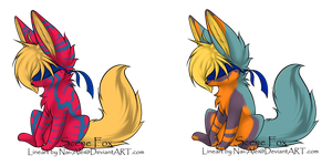 Scene Fox Adopts - Adopted by Feralx1