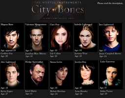 Mortal Instruments Official Casting by angelbabe22
