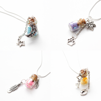 Pastel Bottle Necklaces by FrozenNote