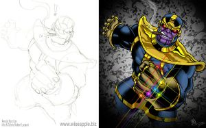 THANOS: Inked and Colored by KER1