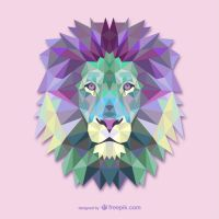Triangle Lion (Vector) by HundredMelanie