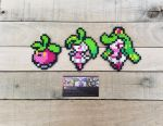 Bounsweet Family - Pokemon Perler Bead Sprites by MaddogsCreations