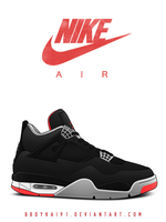 Air Jordan 4 OG 'Black Cement' by BBoyKai91