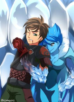 Com: Hiccup and Elsa by ViChaN91312