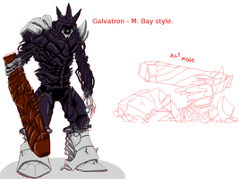 Galvatron - M. Bay Version by Die-Laughing