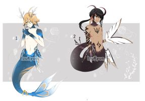 [0/2]Moon Mermaid Adoptable Auction #3-#4 [CLOSED] by A--R--O