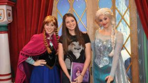 Meeting Anna and Elsa by NostalchicksCosplay