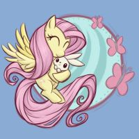 Flutterbunny by khallion