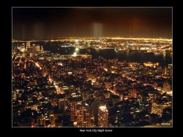 New York City Night Scene 1 by hh