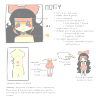 Nomy reference sheet by nomychan