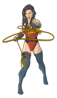 Wonder Woman - lasso throw by Orr-Malus