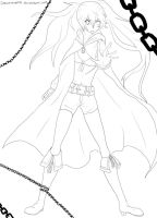 Black Rock Shooter Line Art by CheshireWolf97