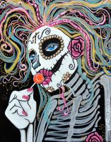 Sugar Skull Lollipop by barbosaart