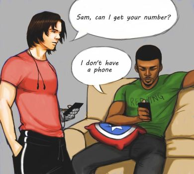 The passive aggressive adventures of Sam and Bucky by Szikee