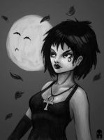 Moon and Death by MAROK-ART