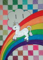 Justin The Unicorn by happiducki