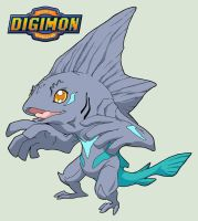 Digimon OC - SCALMON - Rookie by Dzemil69