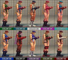 Cammy Colour Pack - SF4 mod by Jiggeh
