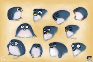 Penguin Facial Expressions by SamiShahin-Art