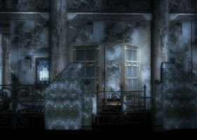 Spooky House Background by Lil-Mz
