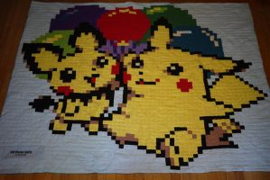 Pikachu Pichu Float On by 8bitHealey