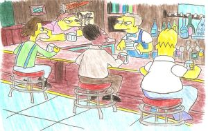 The Simpsons - Moe's Tavern by Iron-Jaden