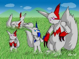 The Zangoose Family by alien-cat