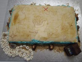 Treasure Map Cake 2 by The-Ice-Flower