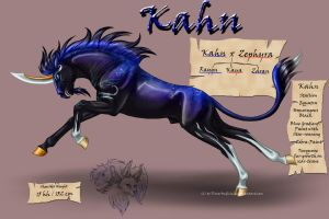 Kahn the Dark Unicorn by FlareAndIcicle