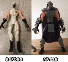 Before and After Shredder Custom by TMNT1984