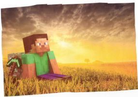 Minecraft Relaxing in a crop by herogamer123