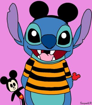 Stitch in Disneyland by DisneyandZimFanatic