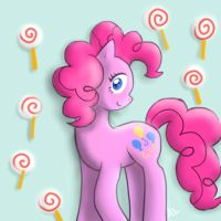 Pinkie Pie + Lollipops = Happiness by ApriLexi
