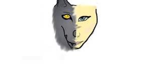 My wolf human face (first attempt) by Alpha-Female13