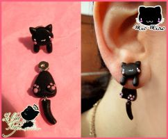 Mio Miao Stud by LeChatNoirHandMade