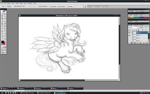 Gift art WIP by PatheticCreature