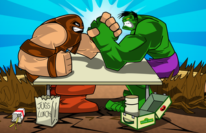 Juggs vs Hulk by kudoze