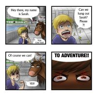 The Adventures of Pewdie and Sarah: p1 by TheTinyTaco