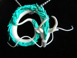 Spirited Away Haku Necklace by Xiiilucky13