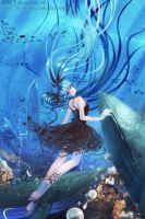 miku__Deep Sea Girl by junefeier