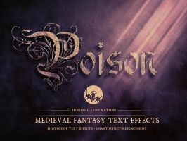Poison - Medieval Fantasy Text Effect by Doomsillustration