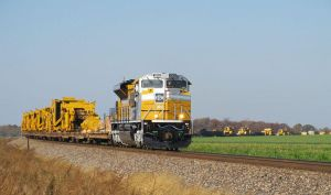 Special Caterpillar SD70ACe 1201 rounds the curve by EternalFlame1891