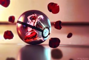 Erza Scarlet in a Pokeball by Jonathanjo