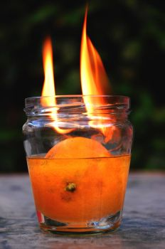 Flaming fruit by MPAphotography